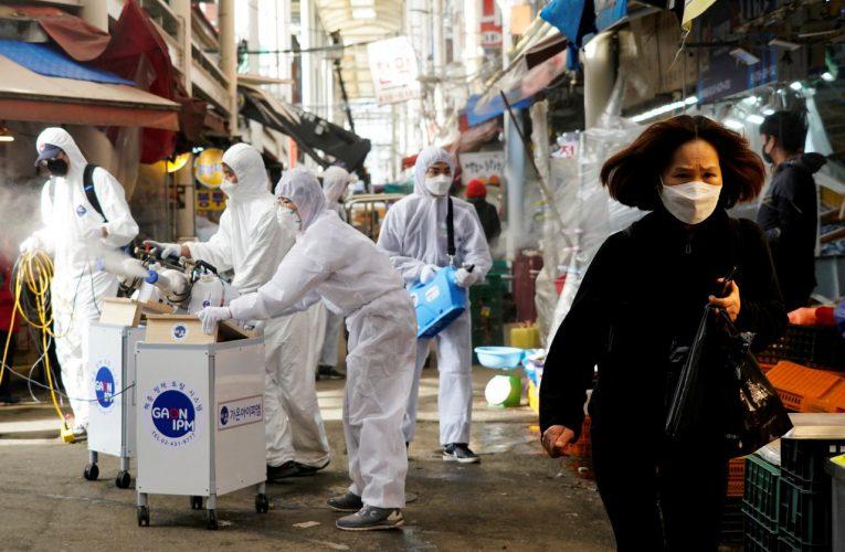 South Korea reports 334 new coronavirus cases, postpones military drill with U.S. troops
